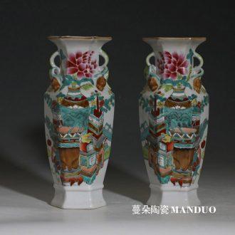 Jingdezhen hand-painted imitation kilns yuan blue and white guiguzi down hand imitation of yuan blue and white porcelain kiln porcelain jar of people
