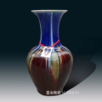 Jingdezhen hand-painted dragon mesa elegant blue and white vase rich ancient frame sitting room place classical furniture decoration