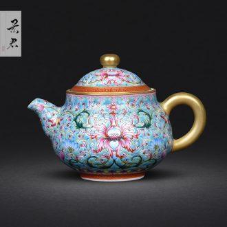 JingJun jingdezhen ceramics ji blue paint all hand sample tea cup kung fu tea tea masters cup