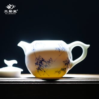 The three frequently colored enamel colour kung fu master cup single cup jingdezhen ceramic sample tea cup manual TZS288 cups