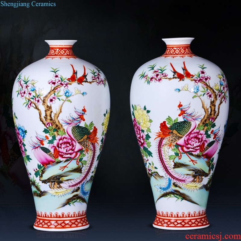 Jingdezhen blue and white porcelain everyone hollow-out the vase