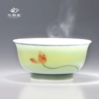 Three frequently hall your kiln cups Sample tea cup personal jingdezhen ceramics slicing can raise master cup single cup S44008