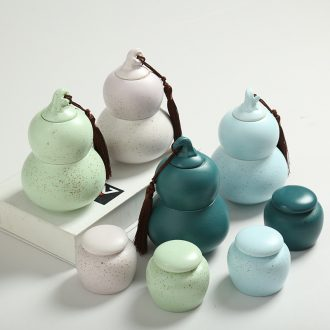 Is Yang violet arenaceous hand-painted ceramic packaging caddy store tea pot store content of coarse pottery seal pot tea gifts