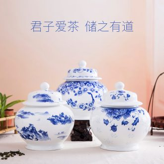 Blower, kung fu tea set household contracted jingdezhen Chinese ceramic gifts hand-painted tureen fair mug cups