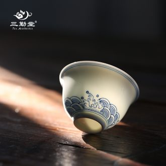 Three frequently hall jingdezhen ceramic cups with cover filter mug cups large capacity tea S61030 office