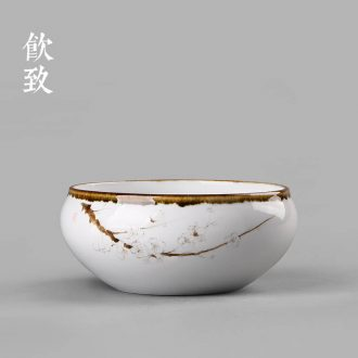 Drink to Hand painted blue and white landscape make tea kettle celadon ware household single pot ball hole filter ceramic kung fu tea set