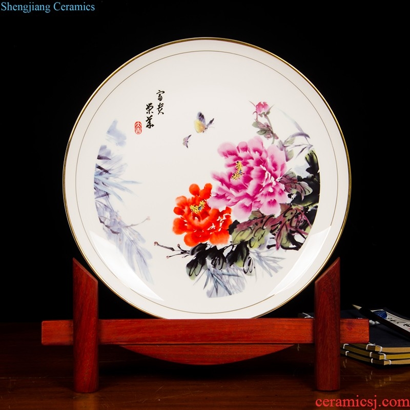 Z028 Jingdezhen Chinaware Paint Edge Qingxi Fish Bone China