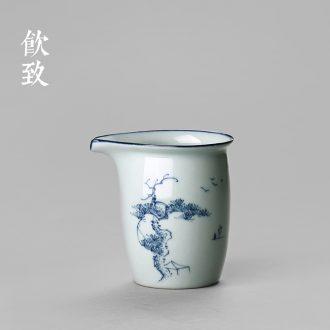 Drink to White porcelain hand-painted porcelain tureen tea cups yongle sweet white glaze tureen three bowl of thin foetus ceramic tea set