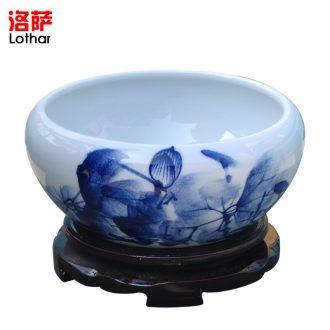 Ceramic jar high leucorrhea faucet base Wine ark place bubble wine it bottle (jin