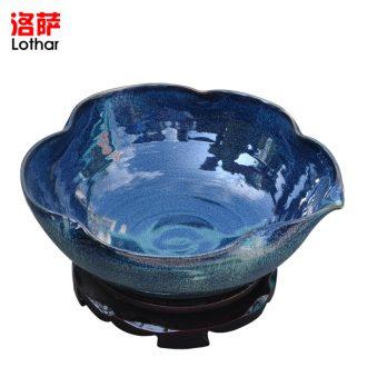 Small ceramic glass goblet wine liquor wine cup temperature wine pot cup archaize hip wine lothar