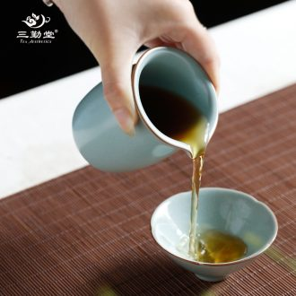 Three frequently hand-painted master of blue and white porcelain cup Tea foam glaze sample tea cup kung fu tea TZS323 ceramic cup