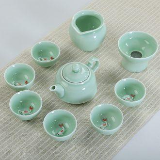 Is Yang large ceramic seal can wake tea caddy tea warehouse storage POTS of tea box white porcelain bales tea pot