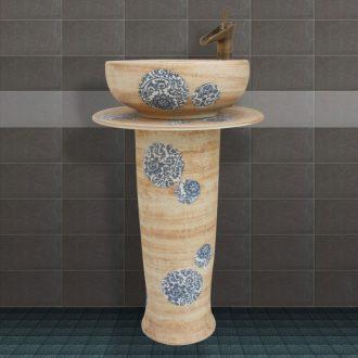 JingYuXuan jingdezhen ceramic lavatory basin basin art on the sink small 35 red and black peony