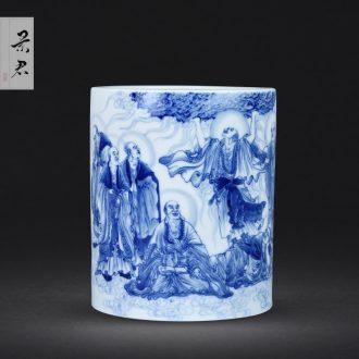 JingJun Jingdezhen ceramics Hand painted blue and white Sample tea cup kung fu tea cups