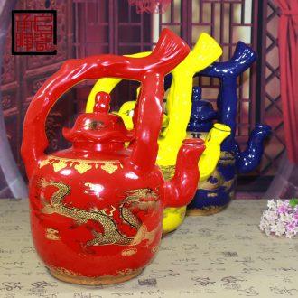 Ceramic bottle 1 catty put empty bottles home wine jar of jingdezhen ceramics decoration bottles