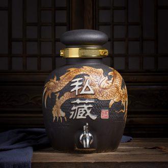 Large and medium size puer tea caddy ceramic POTS storage tanks seal round pot tea box jingdezhen travel box