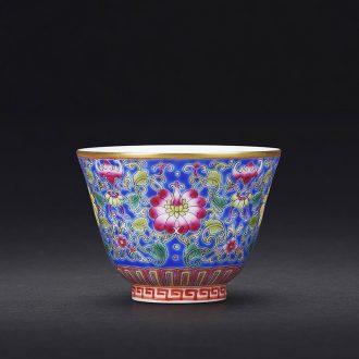 JingJun hand-painted porcelain jingdezhen ceramic master kung fu tea cup tie up branch grain porcelain sample tea cup small hand 1