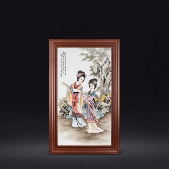 "Master of jingdezhen ceramics hand-painted famille rose porcelain plate decoration ""my fair lady"" wall hanging box"