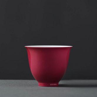 Jingdezhen hand-painted color ink landscape JingJun fair mug tea accessories points tea, kungfu tea accessories