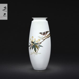 Master of jingdezhen famille rose porcelain hand-painted Chinese vase sitting room porch decoration ceramics handicraft furnishing articles