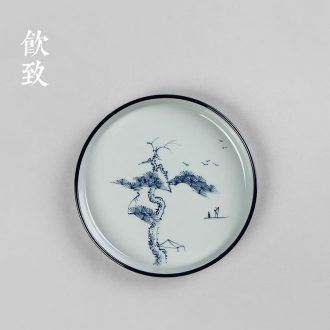 Drink to hand-painted porcelain CiHu bearing a pot pad dry foam plate ceramic teapot dried fruit dish of tea table tea ceremony is tie-in