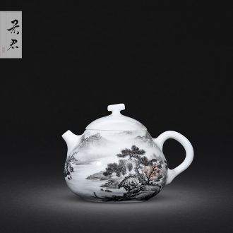 JingJun jingdezhen tea only three tureen tea cups colored enamel blue water best floral print colour kung fu cover