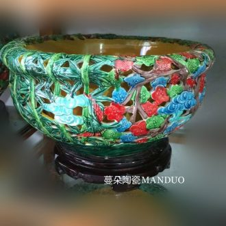Jingdezhen 60 cm high ceramic porcelain porcelain bottle gourd painting of flowers and birds in wax gourd bottle household contracted floret bottle