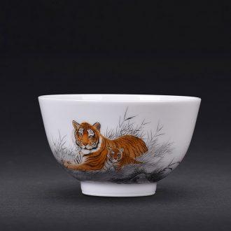 JingJun Jingdezhen porcelain enamel colour all hand sample tea cup kung fu tea cup ceramic cup personal Lord