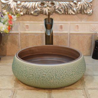 Jingdezhen ceramic lavatory basin basin sink art stage double surplus water sifang put lotus flower POTS