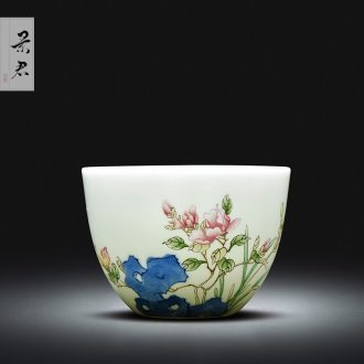 Jingdezhen ceramic teapot kung fu hand draw a hoard of green space around flowers butterfly little teapot all hand colored enamel tea sets