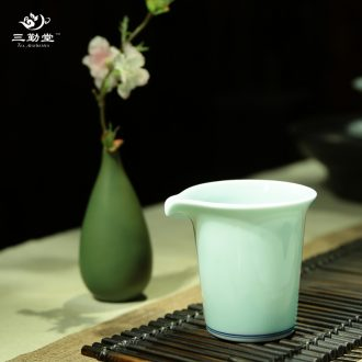 Three frequently hall hand-painted points of tea ware jingdezhen ceramics fair mug pastel celadon equipartition tea S32001 sea