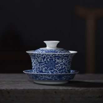 JingJun Jingdezhen ceramics Hand painted colored enamel all hand sample tea cup Tea master cup tea cups
