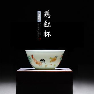 Jingdezhen hand-painted powder enamel kung fu tea black tea ceramic filter single pot of tea antique teapot by hand
