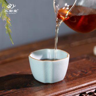 Three regular firewood masters cup Hand draw the boy under the glaze color kung fu jingdezhen ceramic TZS321 tea cups