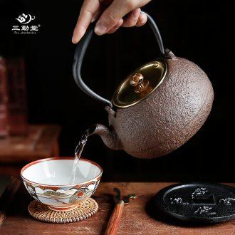 Three frequently hall your kiln xi shi kung fu tea pot of jingdezhen ceramics slicing can be a teapot S24005 small single pot