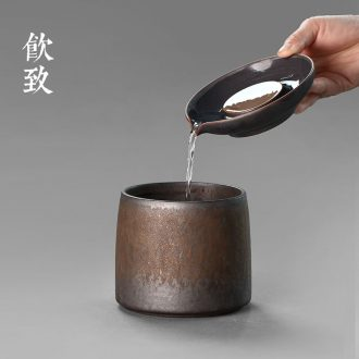 Drink to Hand-painted xuan grain ceramic cups double sample tea cup hat to a cup of tea cup single cup kung fu tea set