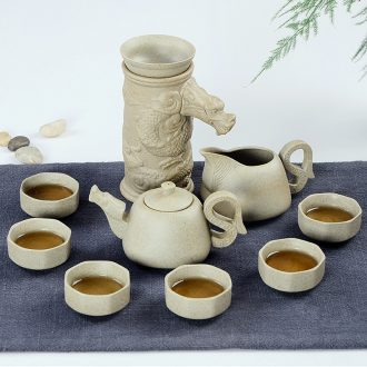 And a half stone mill automatic tea sets of household ceramics kung fu tea set creative lazy teapot hot tea; preventer