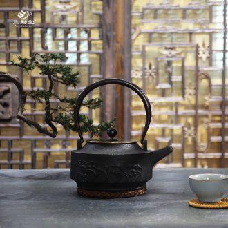 The three regular crack cup a pot of two cups of jingdezhen ceramic portable travel TZS248 kung fu tea set hand grasp pot