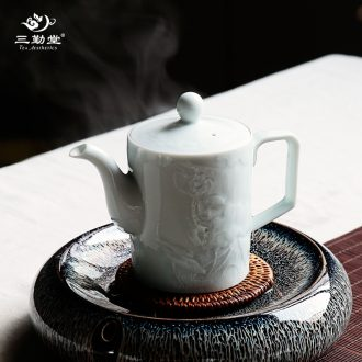 Three frequently ceramic tea set Jingdezhen domestic tea S42098 suits the teapot teacup of a complete set of 6