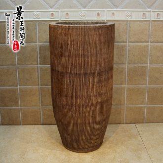 Basin conjoined JingYuXuan jingdezhen ceramic basin of rain flower stones one column column basin sinks art much money