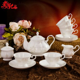 Suit dishes household combination of jingdezhen ceramic tableware suit European contracted ikea dishes porcelain housewarming gift