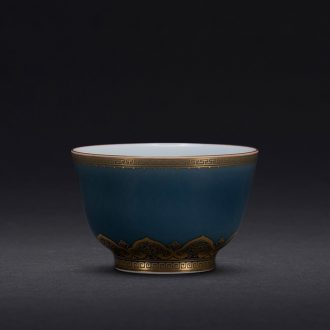 JingJun jingdezhen ceramics kung fu tea set only three bowl of hand-painted lotus tureen cup tea bowl set by hand