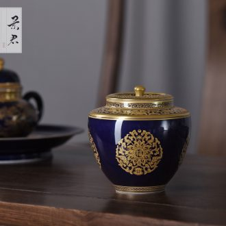 Jingdezhen ceramics hand-painted painting of flowers and pastel celadon vase sitting room of Chinese style household art adornment is placed