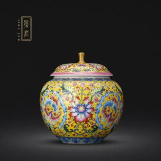 JingJun Jingdezhen ceramics Hand painted blue and white best blessing all hand caddy storage tanks Nuts can put