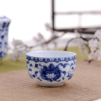 Blue and white porcelain tableware suit home dishes dishes suit contracted bone porcelain of jingdezhen ceramic combination of Chinese style of eating food