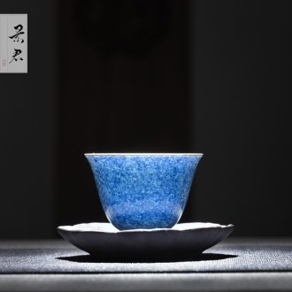 JingJun Tureen ceramic cups large only three bowl full kung fu tea bowl of jingdezhen blue and white 1 hand by hand