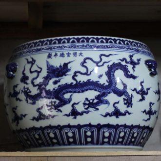 Jingdezhen kiln gem blue design big vase 65-80 cm high variable red sapphire blue vase