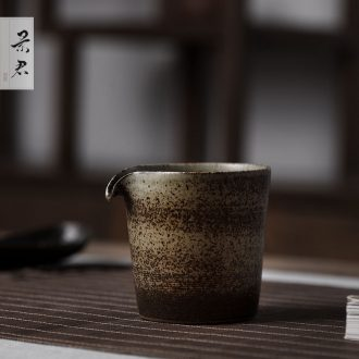JingJun manual kung fu tea accessories Japanese ceramic points of tea, a large male cup) justice cup