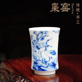Owl fair jingdezhen kiln XY - CJ294C hand-painted famille rose porcelain cup kung fu tea accessories All handmade