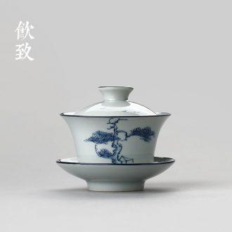 Drink white porcelain filtering to single pot of antique teapot xi shi teapot little teapot household contracted ceramic kung fu tea set